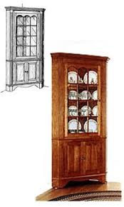 Colonial Corner Cabinet Plans This Is Almost Exactly What Id Like For The Dining Room