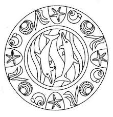 Sea Animal Mandala Dolphin Coloring Pages