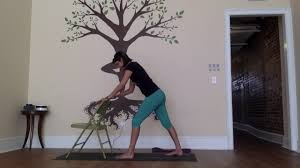 Youtube Chair Yoga Sequence by 5 Poses Week 4 Standing Chair Sequence