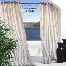 escape stripe outdoor grommet curtain panels