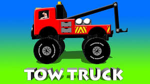 Quick Snip 3 - Tow Truck Rescues Sara Pink Monster Truck - YouTube