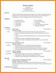 Massage Therapist Resume Examples Elegant 17 Therapy
