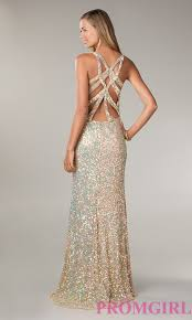 primavera v neck sequin prom dress sequin evening gown promgirl
