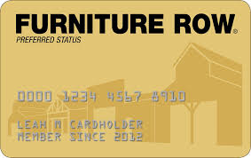 furniture row credit card payment