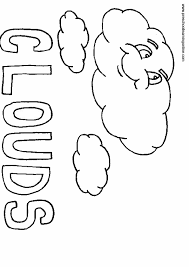 Colouring Pages Weather Clouds Coloring Page A Kids Drawing Of Rainbow Over The