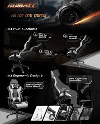 Homall Racing Style Ergonomic Computer Gaming Chair With High-Back Swivel  PU Leather, Seat Height Adjustable, And Lumbar & Head Support - Newegg.com Akracing Premium Masters Series Chairs Atom Black Edition Pc Gaming Office Chair Abrocom Fniture Emperor Computer Cow Print Desk Thunderx3 Tgc25 Blackred Brand New Tesoro Gaming Break The Rules Embrace Innovation Merax Highback Ergonomic Racing Red Dxracer Official Website Support Manuals X Rocker Ultimate Review Of Best In 2019 Wiredshopper Nzxt Vertagear Sl2000 Rev 2 With Footrest Moustache Titan 20 Amber