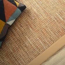 tapis coton tisse a plat tapis tissé plat bornéo nature ganse coton café au lait 140 x