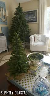 Christmas Tree In Barrel With A Coastal Feel Slightly