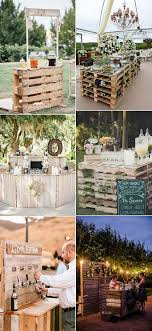 Food And Drink Stations Outdoor Wedding Station Ideas With Wood Pallets
