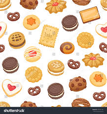 Different cookie cake isolated vector illustration Tasty holidays traditional sugar cakes food cookie isolated on