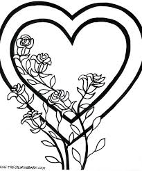 Coloring Pages Butterfly And Flower Page For Adults Elephant Hearts Roses Valentine Tied Horse Jumping