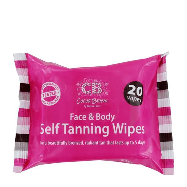 Cocoa Brown Face & Body Self Tanning Wipes - 20 Pack