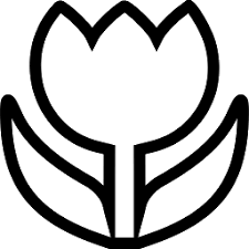 tulip clipart black and white 3