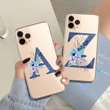 blue letter pattern mobile phone for iphone 12 pro max