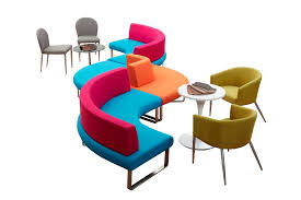 Multiple Colors Fabric Office Modular Sofa Contemporary Breakout Furniture Seating