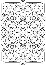 Geometric Design Colouring Pictures Stained Glass Pages