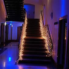 led waterfall light icicle stripe window curtain fairy lights