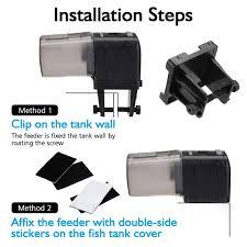 Amazoncom FOCUSPET Fish Feeder Automatic Fish Feeder Battery