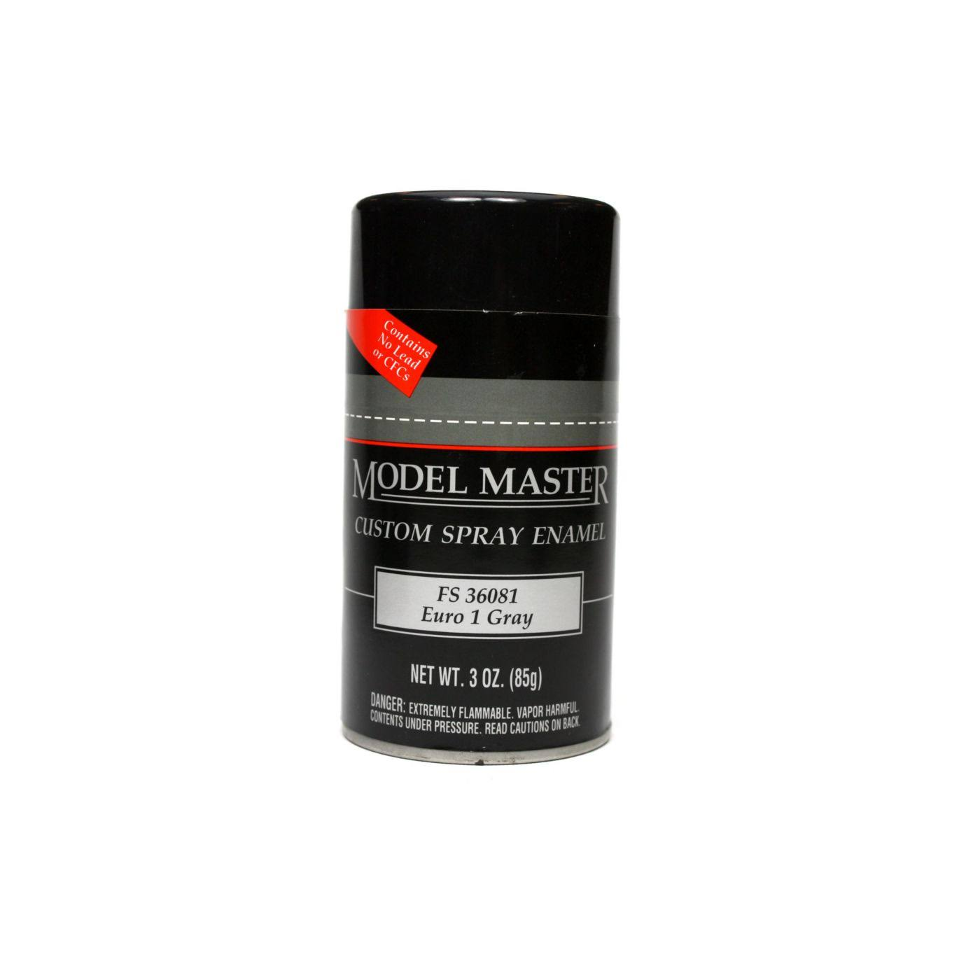 Testors Model Master Custom Spray Enamel - Euro 1 Gray, 3oz