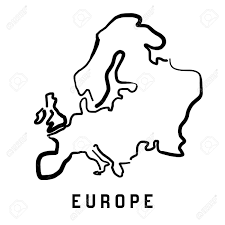 Europe Simple Map Outline