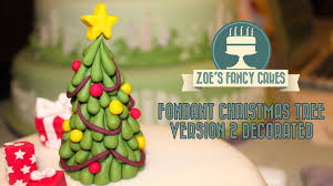 Fondant Christmas Tree Tutorial Version 2 Decorated Cake Topper Decorating How To