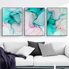 xcsmwja grüne rosa marmor leinwand malerei wandkunst kunst