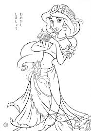 Animals Printable Princess Coloring Pages Disney Jasmine For Adults