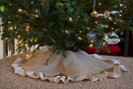 72 Inch Christmas Tree Skirt Pattern by Dwelling Cents Easy Christmas Decor Diy Burlap Tree Skirt