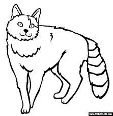 Turkish Van Breed Cat Online Coloring Page