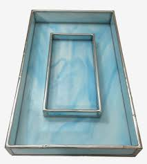 Mens Dresser Valet by Blue Marbled Stained Glass Valet Tray Home Decor U0026 Lighting