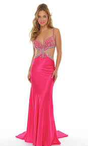 back cut outs long low v neck natural sequin embellished fuchsia