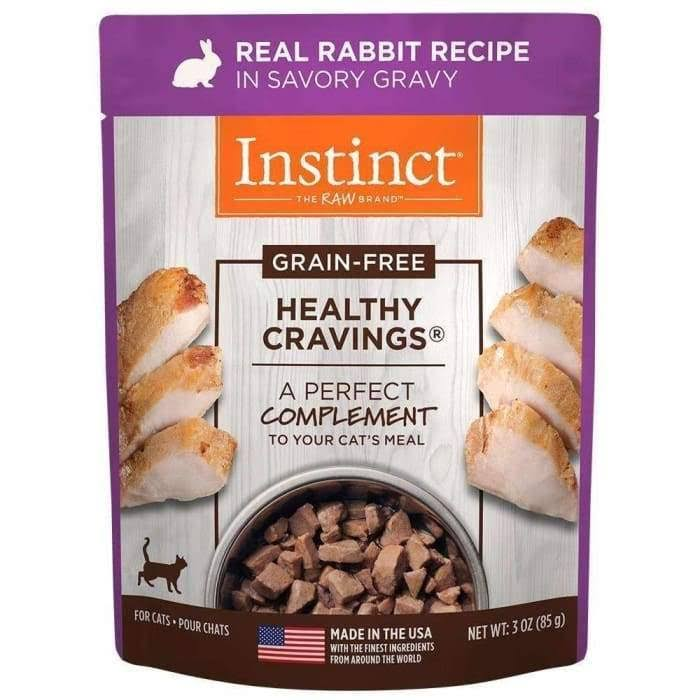 Instinct Healthy Cravings Grain Free Real Rabbit Recipe Natural Wet Cat Food Topper by Nature's Variety, 3 oz. Pouches (Case of 24)