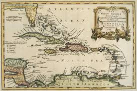 Small British Map Dated 1768 Of The West Indies Engraved For Charles Theodore Middletons Complete Loading Zoom
