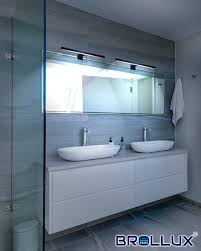 paket led spiegelleuchte badleuchte badezimmer schminklicht schwarz matt neutral weiß 230v 220lm ip44 300 mm