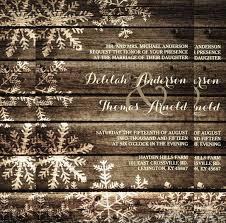 Barn Wood Snowflakes Rustic Wedding Invitation