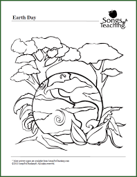 Celebrate Earth Day Free Printable Coloring Page Download From Songs For Teaching