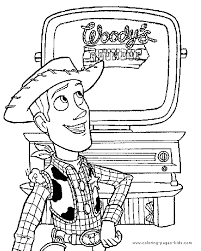 Toy Story Coloring Page Disney Pages Color Plate Sheetprintable