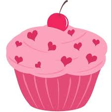 347x350 Pink Birthday Cupcake Clipart