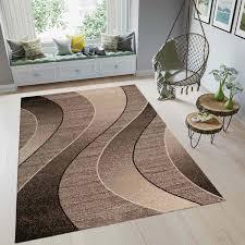 wohnzimmer teppich braun beige kurzflor teppiche