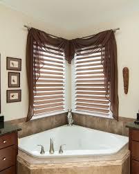Design Bathroom Window Curtains by Best 25 Corner Window Treatments Ideas On Pinterest Corner