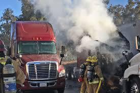 100 Postal Truck Fire Destroys Cab Of BigRig At Facility In Goleta Local