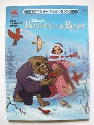 Disneys Beauty And The Beast 1991 Golden Coloring Book
