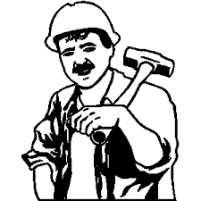 Clip Arts Related To People At Work Clipart Black And White