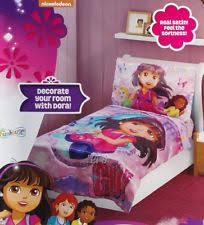 Dora Toddler Bed Set by Dora Toddler Bedding Set Ebay