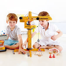 Hape Kitchen Set Uk by Hape Playscapes Toddler Kids Wooden Toy Construction Site Crane