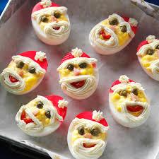 Santa Deviled Eggs Recipe In 2019 Christmas Eve Christmas