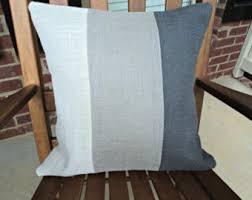 Gray Burlap Pillow Cover Modern Rustic Home Decor Throw Pillows Ombre Covers Decorative