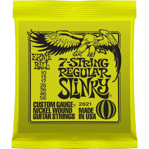 Ernie Ball 7-String Electric Guitar Regular Slinky Nickel Wound Set - .010 - .056