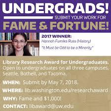 100 Uw Odegaard Hours Undergrads Submit Your Latest Research Undergraduate