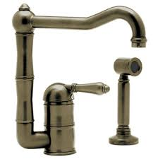 2 Handle Kitchen Faucet With Side Sprayer by Faucets Kitchen Faucets Deck Mount Decorative Plumbing